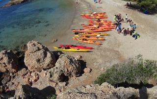 Caiac i snorkel a l'Amtella de Mar