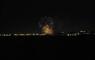 Vistes des del Cap de la Móra durant el Concurs Internacional e Focs Artificials de la Ciutat de Tarragona.